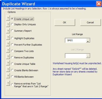 Excel Duplication Manager Excel Add-ins